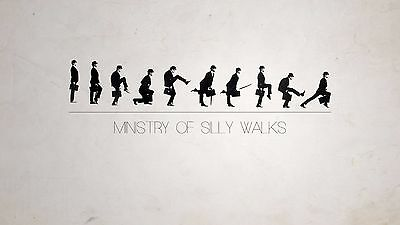 Monty Python Ministry of Silly Walks A4 Movie poster reprint