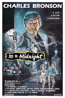 10 To Midnight Charles Bronson Movie Poster A4 reprint