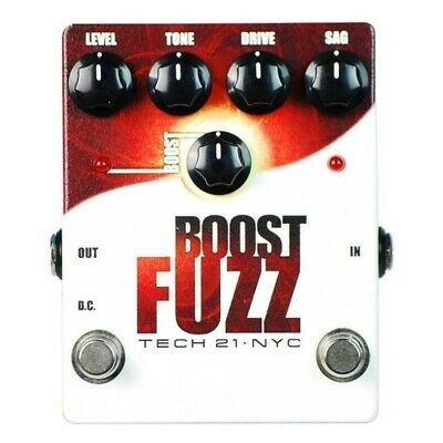 Tech 21  Boost Fuzz Analog Guitar Effects Pedal
