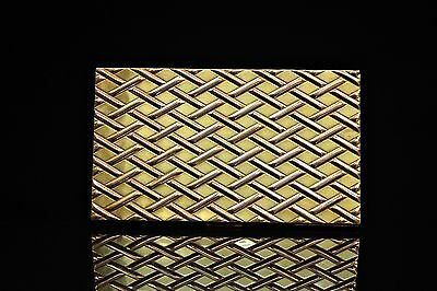 Antique Original European Perfect Silver Gold Plated Silver Cigarette Case