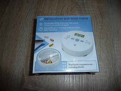 Medication box with timer