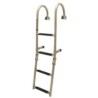 Quality Stainless Steel 4 Step Marine Folding Boarding Ladder - Boat Yacht SS20