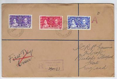 Gilbert & Ellice Islands 1937 Coronation First Day Cover