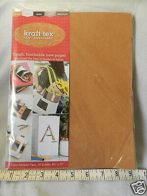 "Kraft-Tex 5 Colour Sampler - 10 sheets 8.5"" x 11"" - 2 of each colour"