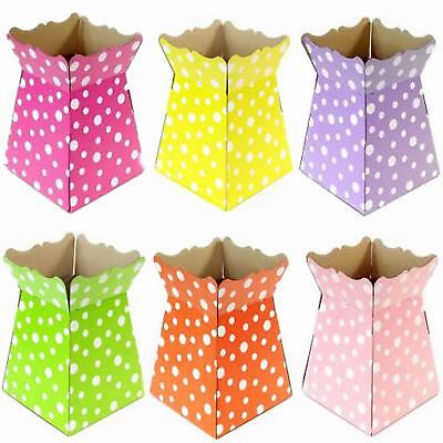 Living Vases - Polka Dot Spot - Florist Bouquet Box Flower Sweet Boxes - 6 Cols