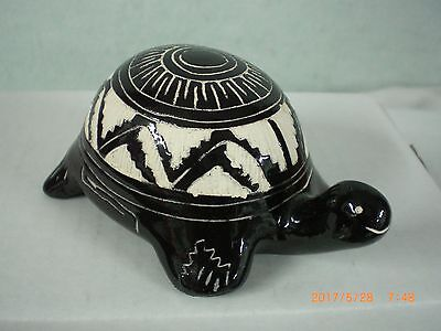 Pottery, Native American, Navajo, Turtle, Signed                   nv jd