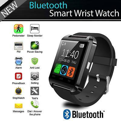 For Android IOS Samsung iPhone LG Bluetooth Smart Wrist Watch Phone Mate