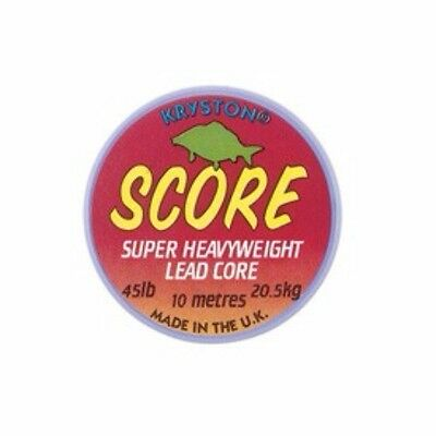 Kryston Score Super Heavy weight Leadcore 45lb 10m Spool FREE P&P Lead core