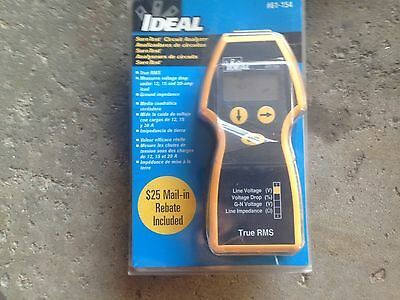 Ideal Sure Test 61-154 Handhneld AC Circuit Analyzer New