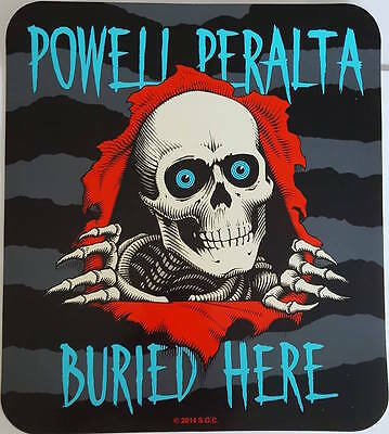 *** Powell Peralta - Skateboard Sticker - Buried Here - 20,5x23,5cm ***