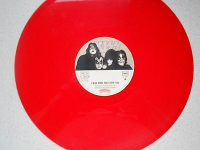 "Kiss,i Was Made For Lovin' You/charisma. French Import 12""red Vinyl"