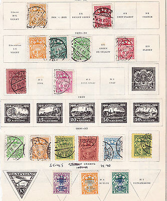 LATVIA ^^^^1921-32  better     mint & used  collection  $$ @f5813xxblat