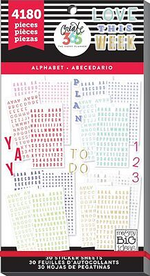 Me & My Big Ideas The Happy Planner Alphabet Value Pack Stickers PPSV-16