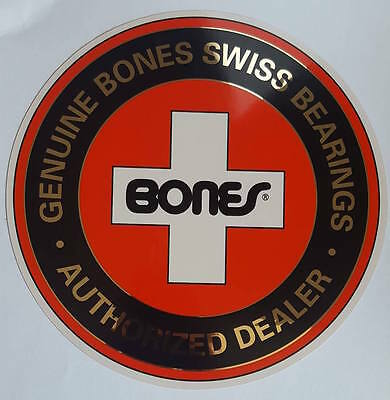 *** Bones Swiss Bearings - Dealer - Skateboard Sticker - 19cm ***
