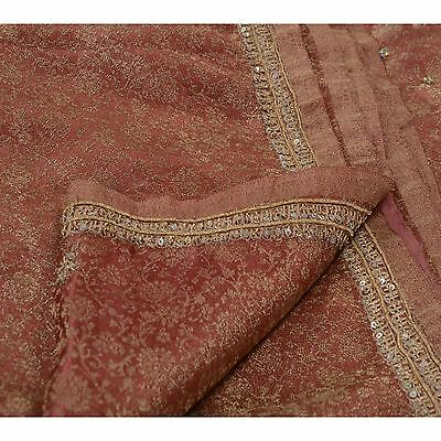 Sanskriti Vintage Indian Saree Tissue Hand Beaded Woven Fabric Ethnic Sari Zari