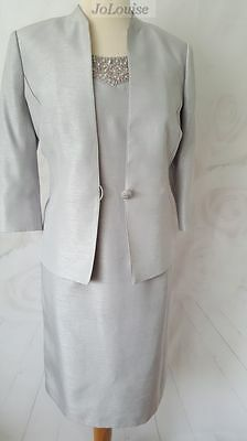 Jacques Vert Dress & Jacket size 18 Wedding Mother Of The Bride Special Occasion