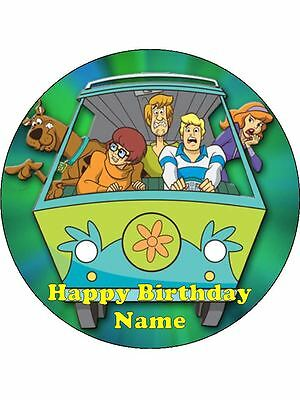 SCOOBY DOO Edible Wafer Paper Birthday Cake Decoration 12 Cupcake Toppers