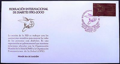 Mexico 2000 FDC Diabetes International Federation 50th Anniv NGO Health WHO XF