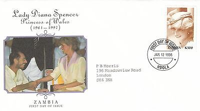 (02037) Zambia FDC Princess Diana Death 12 January 1998