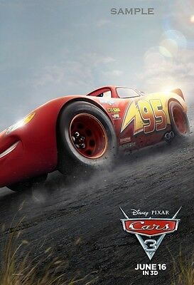 Disney Pixar Cars Movie Lightning McQueen A4 poster print