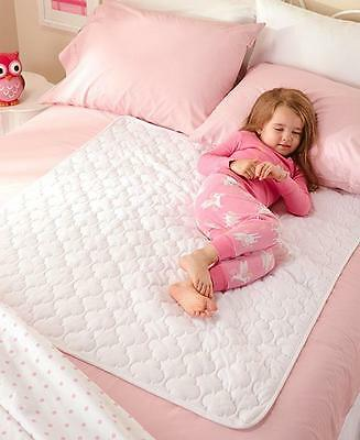 2 Toddler Children's Boy Girl White Washable Waterproof Mattress Pad Bed Pads