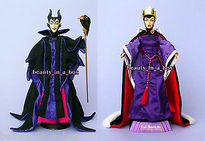 Evil Queen & Maleficent Disney Villains Doll Just Deboxed NO BOX Movie Barbi ""