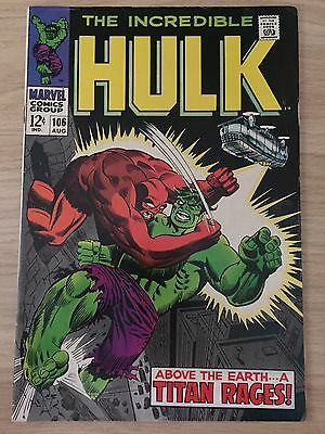 The Incredible Hulk #106 (August 1968, Marvel)