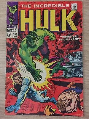The Incredible Hulk #108 (October 1968, Marvel)