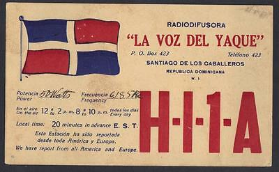 Dominican Republic 1935 Santiago Advertising Radio Broadcasting Station H I 1 A