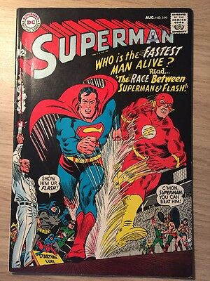 Superman #199 (August 1967) First Superman and Flash race