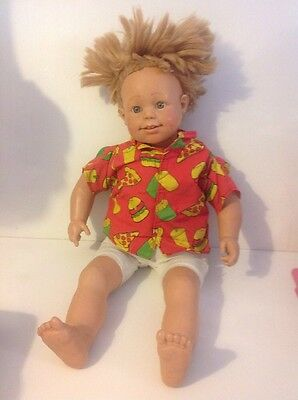 "Smoby Large 24""Toddler Doll Pico Roby Large Doll Vintage Retro"