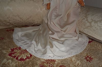 Original stunning antique silk christening gown - dress #6
