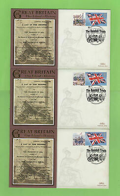 G.B. 2004 Collection of three 'Rainhill Trials' commemorative covers