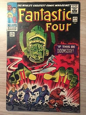 Fantastic Four #49 (Apr 1966) First cover of Galactus; Second Silver Surfer