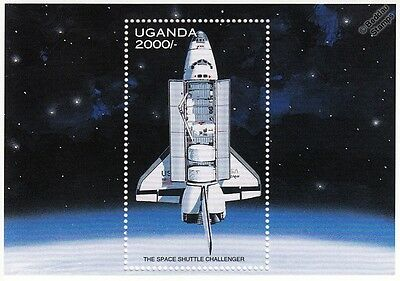 Space Exploration: NASA SPACE SHUTTLE CHALLENGER Stamp Sheet (1997 Uganda)