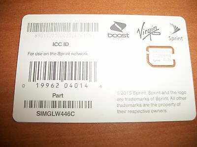 Sprint Boost Virgin Mobile Sim Card For Google Pixel Simglw446C