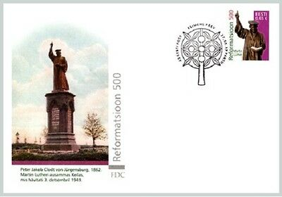 First day cover FDC of ESTONIA 2017 - Reformation 500 years