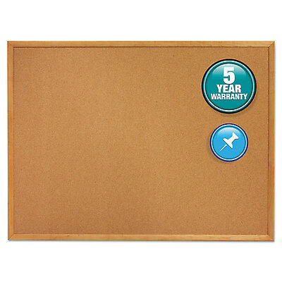 Classic Cork Bulletin Board, 48 X 36, Oak Finish Frame-QRT304