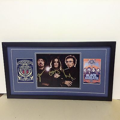 Black Sabbath Hand Signed/Autographed  Photograph with COA