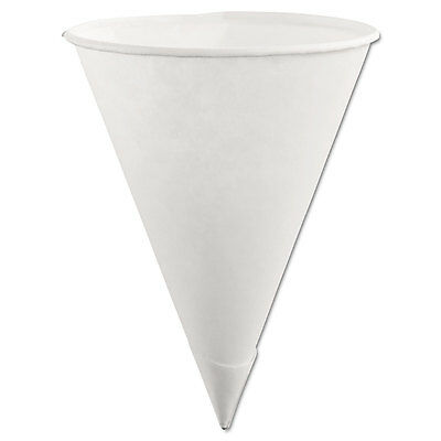 Paper Cone Cups, 6oz, White, 200/pack, 12 Packs/carton-RUB2B41WHICT