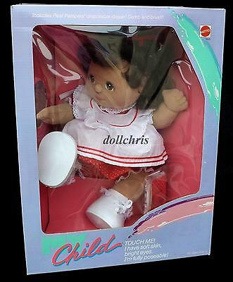 Mattel Hispanic My Child Doll Girl in Factory Sealed Box Red White Dots Pinny