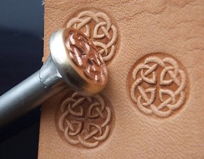 012-08 Celtic Knot Leather stamp brass Tool collectibiles