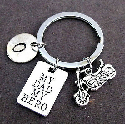 My dad my hero Personalized Dad Keychain,Father's Day Gift,Grandpa gift,dad gift