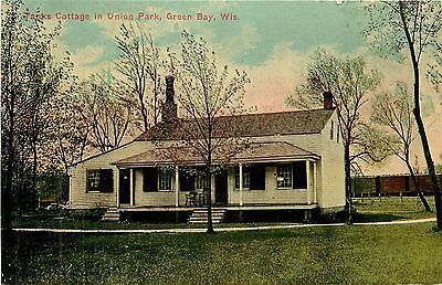 Wisconsin, WI, Green Bay, Tanks Cottage in Union Park 1910's Postcard