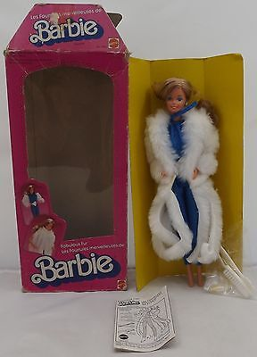 Lovely Vintage Boxed Mattel Fabulous Fur Barbie Doll #7093 Canadian 1983