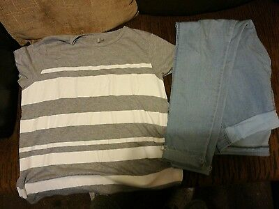asos tall maternity wear jeans size 16 tshirt size 18