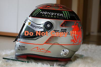 Original Michael Schumacher 1:1 Helm Helmet SPA Belgien GP 2012 Platin LIMITED