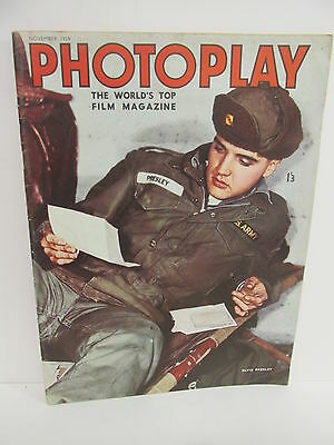 Photoplay - Film Magazine, November 1959, Elvis front cover