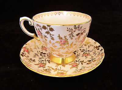 Tuscan Du Barry Rose Pale Pink With Gold Cup and Saucer Fine Bone China