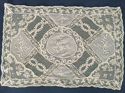 Vintage Normandy lace piecework small centerpiece